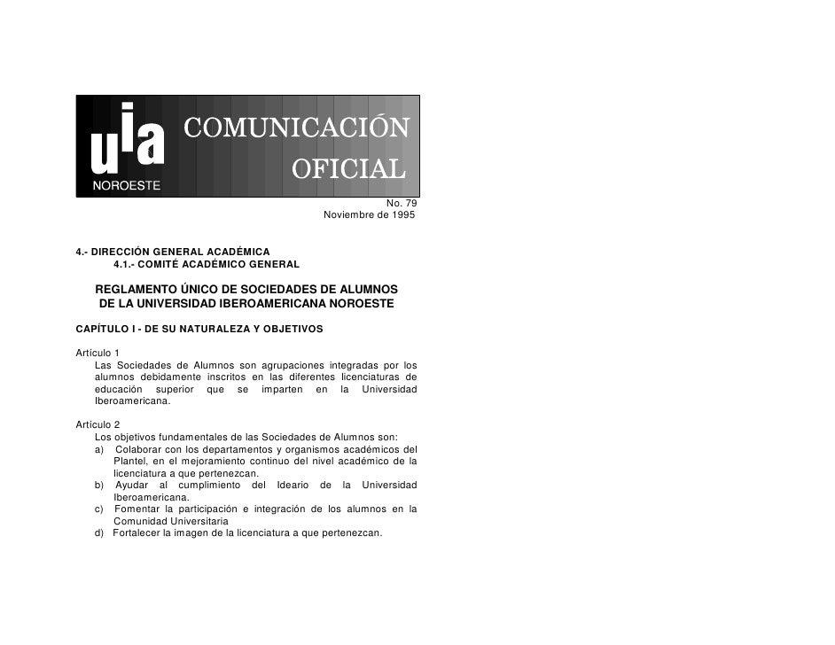 No. 79                                                    Noviembre de 1995   4.- DIRECCIÓN GENERAL ACADÉMICA         4.1....