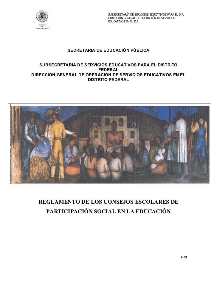 SUBSECRETARÍA DE SERVICIOS EDUCATIVOS PARA EL D.F.                             DIRECCIÓN GENERAL DE OPERACIÓN DE SERVICIOS...