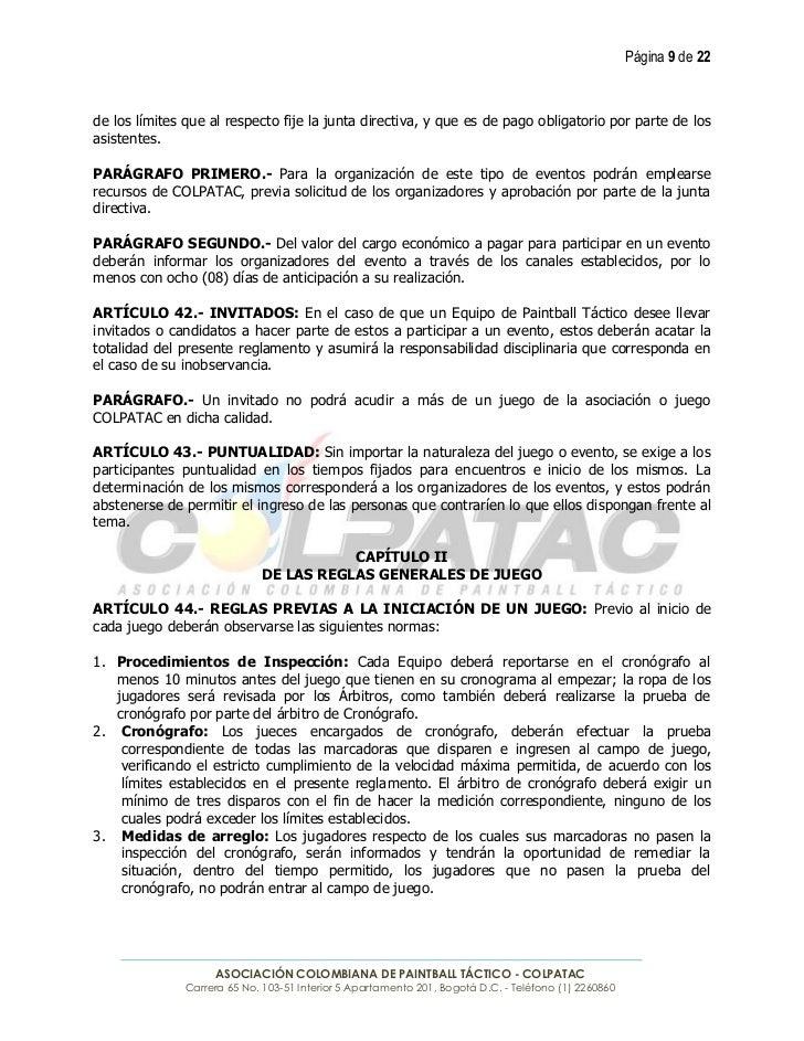 Página 9 de 22de los límites que al respecto fije la junta directiva, y que es de pago obligatorio por parte de losasisten...