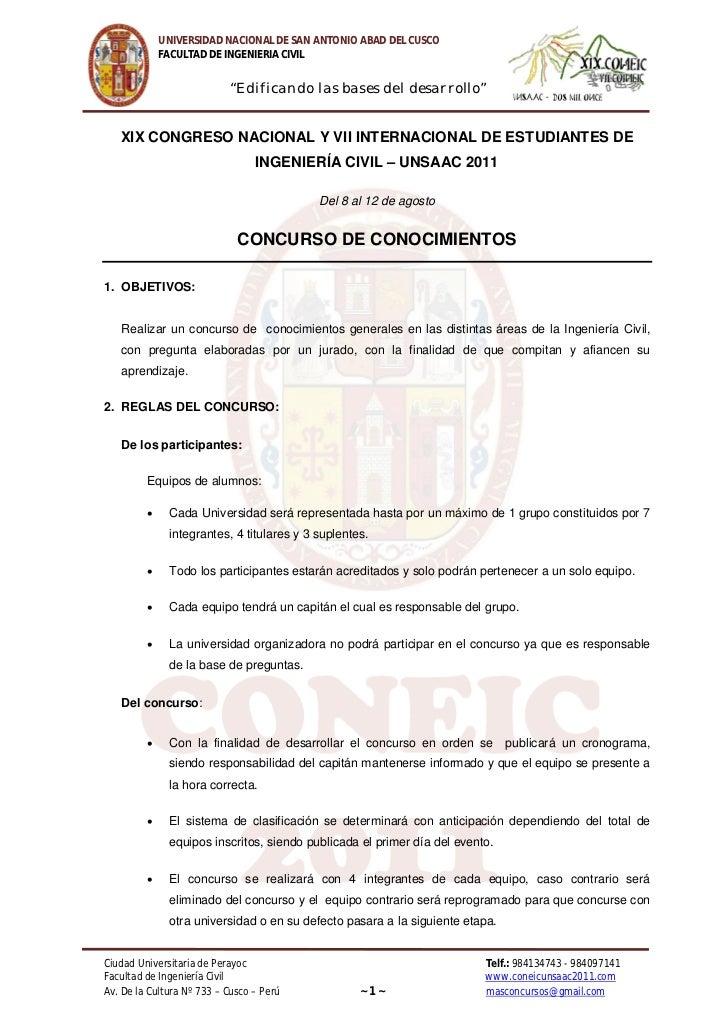 """UNIVERSIDAD NACIONAL DE SAN ANTONIO ABAD DEL CUSCO             FACULTAD DE INGENIERIA CIVIL                           """"Edi..."""