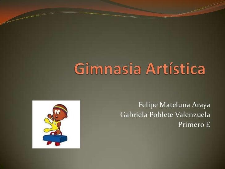 Felipe Mateluna ArayaGabriela Poblete Valenzuela                  Primero E