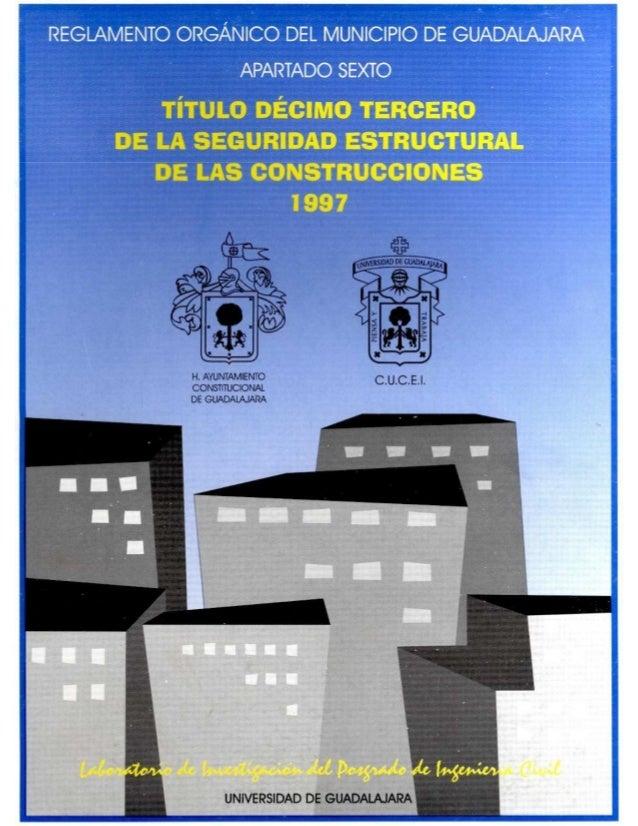 Reglamento de la seguridad estructural de las construcciones guadalajara