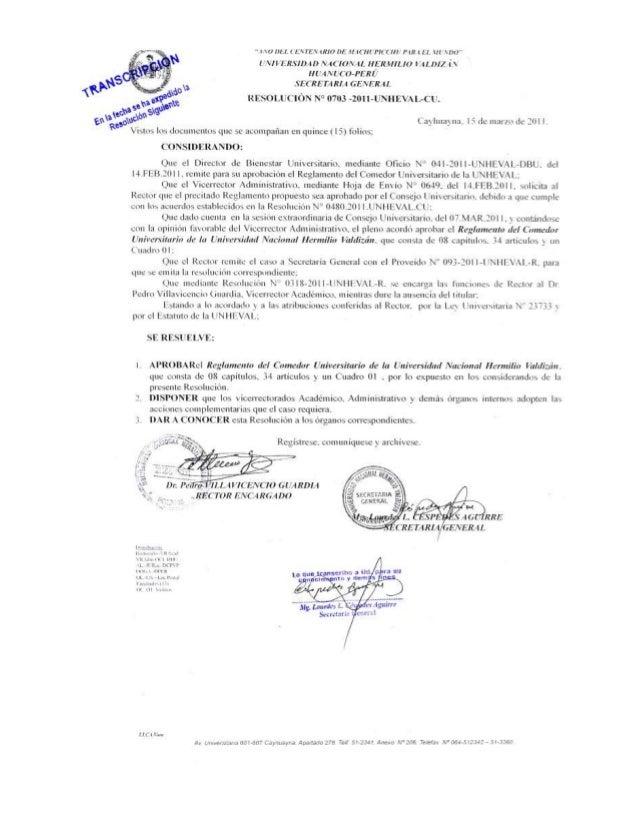 Reglamento del comedor universitario 2011 (1)
