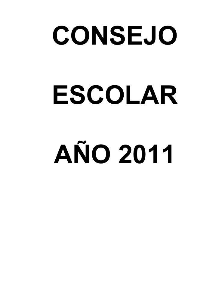 CONSEJOESCOLARAÑO 2011