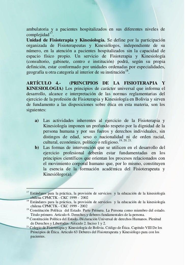 ambulatoria y a pacientes hospitalizados en sus diferentes niveles decomplejidad17.Unidad de Fisioterapia y Kinesiología. ...