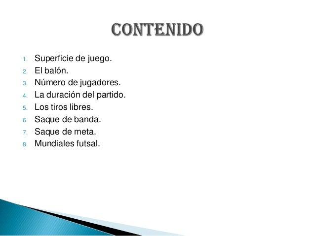 Reglamento del futsal seg n la fifa for 5 reglas del futbol de salon
