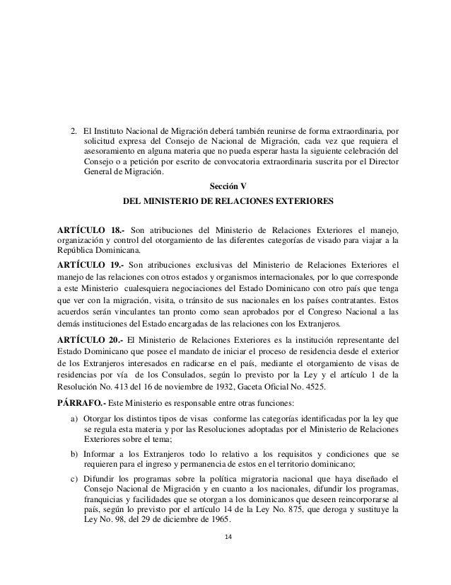 Reglamento de migraci n n mero 631 11 for Ministerio de migracion