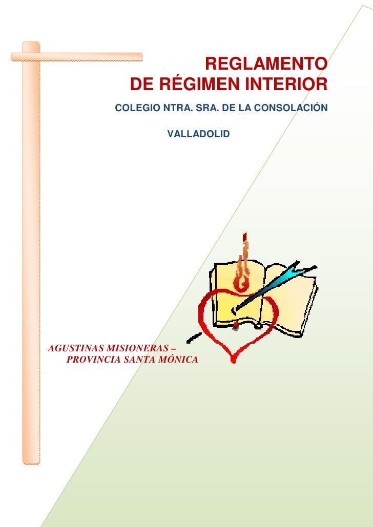 reglamento de regimen interior