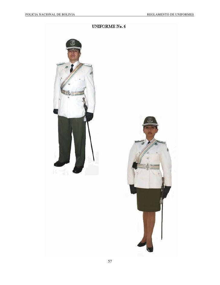 Reglamento de Uniformes Policía Boliviana cfc104bdcf9ea