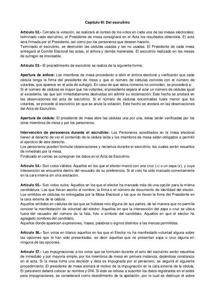 Reglamento electoral y cronograma ex alumnos de la ie for Presidente mesa electoral