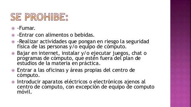 Reglamento en el centro de computo for Bankia oficina de internet entrar
