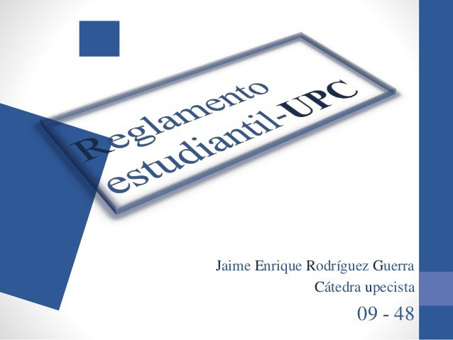 Jaime Enrique Rodríguez Guerra Cátedra upecista 09 - 48