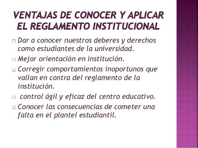 Dar a conocer nuestros deberes y derechos  como estudiantes de la universidad.  Mejor orientación en institución.  Corregi...