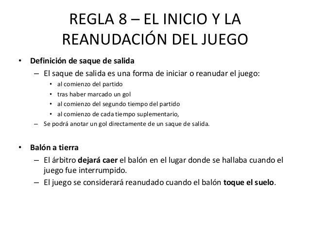 Reglamento futbol for Cuando es fuera de lugar futbol