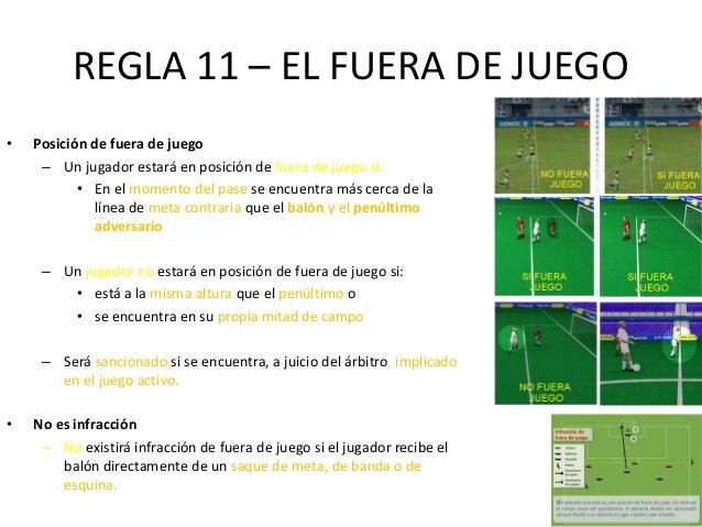 Reglamento futbol for Fuera de juego futbol