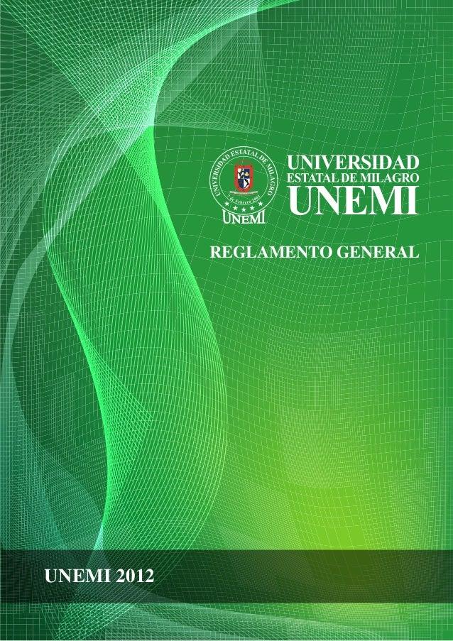 REGLAMENTO GENERAL UNEMI 2012