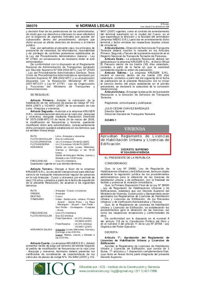 El Peruano380370                                             NORMAS LEGALES                                               ...