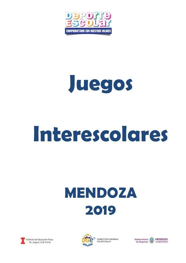 Juegos Interescolares MENDOZA 2019