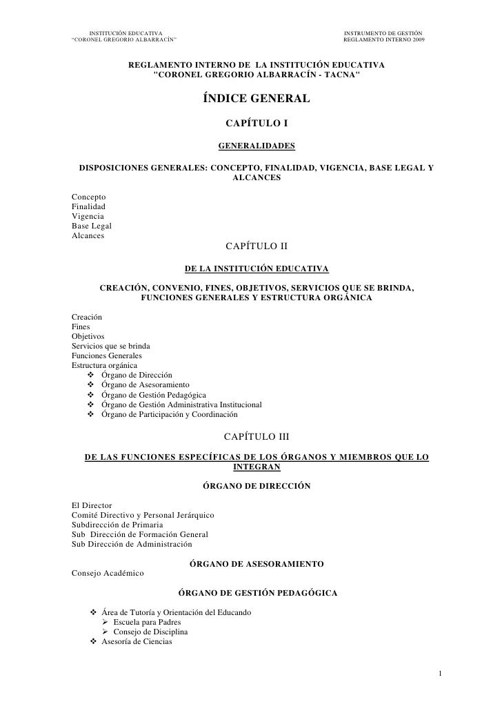 INSTITUCIÓN EDUCATIVA                                     INSTRUMENTO DE GESTIÓN―CORONEL GREGORIO ALBARRACÍN‖             ...