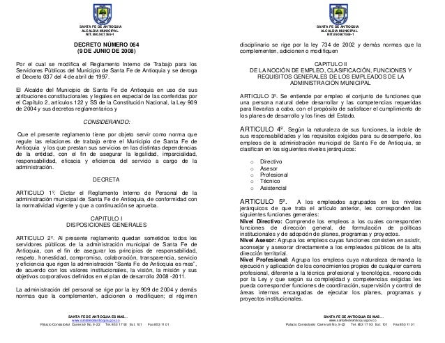 SANTA FE DE ANTIOQUIA SANTA FE DE ANTIOQUIA ALCALDÍA MUNICIPAL ALCALDIA MUNICIPAL NIT.890.907.569-1 NIT.890907569-1 SANTA ...