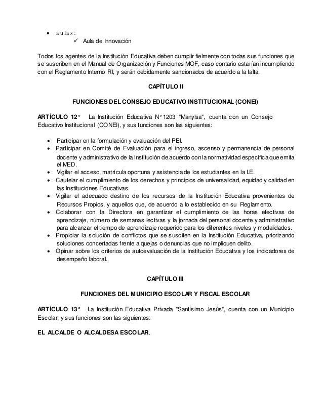  Informar sobre sus actividades en asambleas y/o sesiones del Consejo Escolar. REGIDOR (A) DE EMPRENDIMIENTO Y ACTIVIDADE...