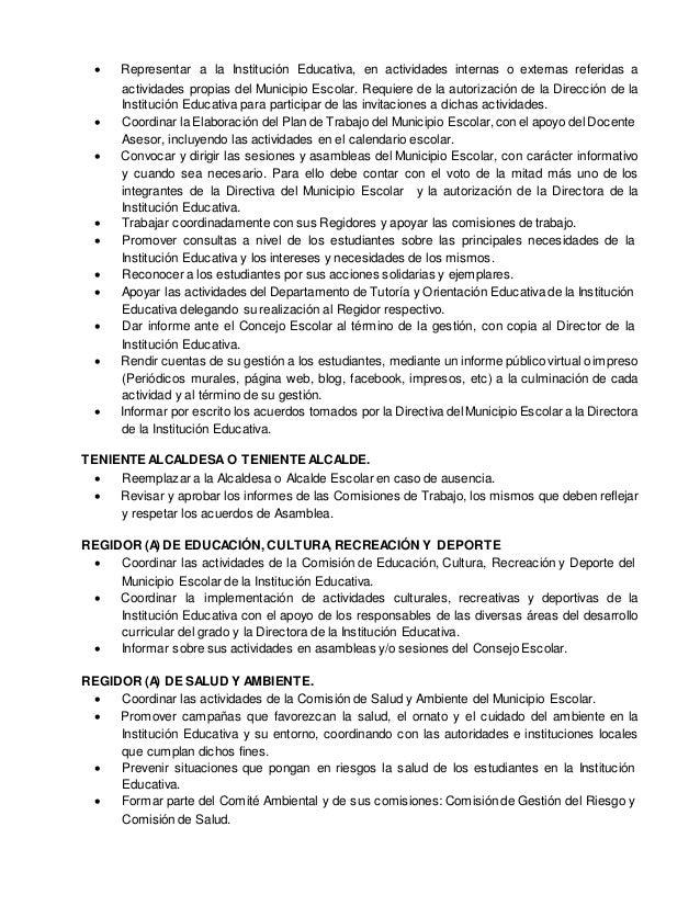 """ARTÍCULO 14° La Institución Educativa N° 1203 """"Manylsa"""", cuenta con un Fiscal Escolar, y sus funciones son las siguientes:..."""