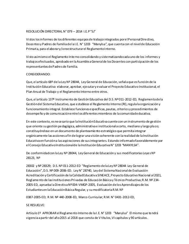 Reglamento interno 1203 Slide 2