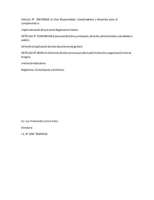 Reglamento interno 1203 Slide 3