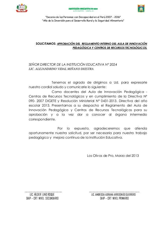 """INSTITUCIÓN EDUCATIVA Nº 2024LOS OLIVOS - UGEL 02""""Decenio de las Personas con Discapacidad en el Perú 2007 - 2016""""""""Año de ..."""