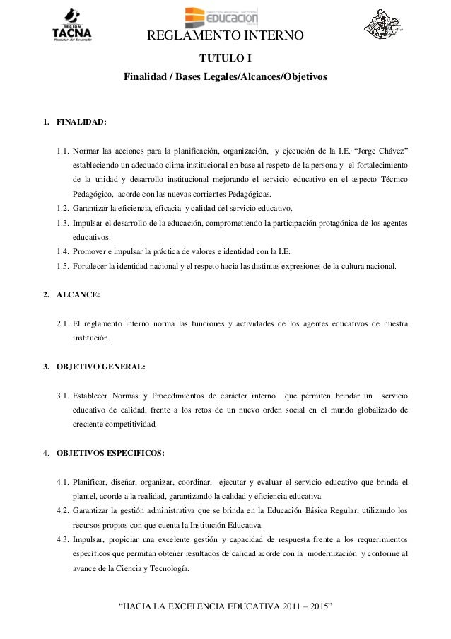 Reglamento interno  2014 Slide 2