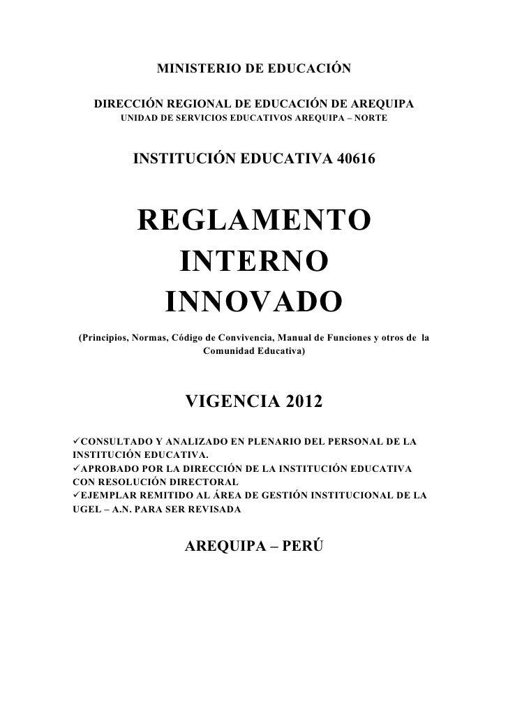 Reglamento interno actualizado 2012 2013 dela 40616 for Ministerio de seguridad telefonos internos