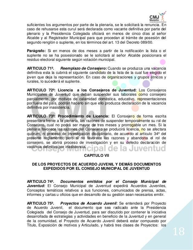 Reglamento Interno CMJ 2010-2013