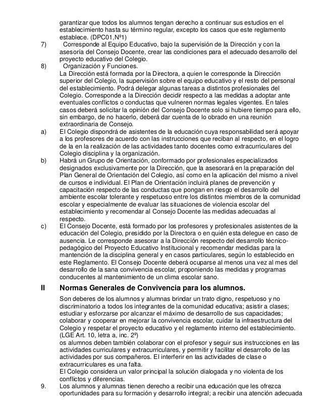 Reglamento interno de disciplina y convivencia del colegio Slide 2