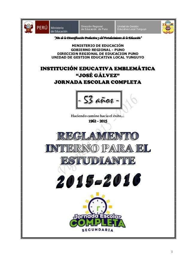 Reglamento interno para estudiantes 2015 for Ministerio de seguridad telefonos internos
