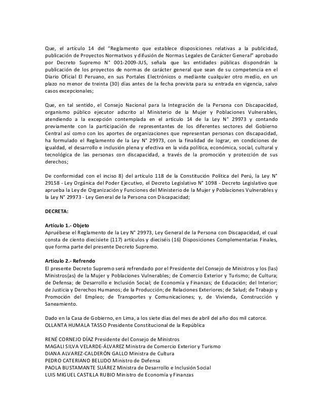 Reglamento ley general_persona_discapacidad Slide 2
