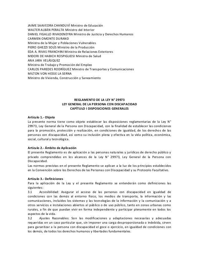 Reglamento ley general_persona_discapacidad Slide 3