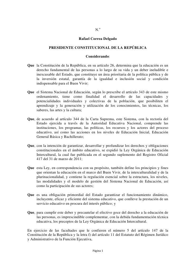 N.o                                 Rafael Correa Delgado              PRESIDENTE CONSTITUCIONAL DE LA REPÚBLICA          ...