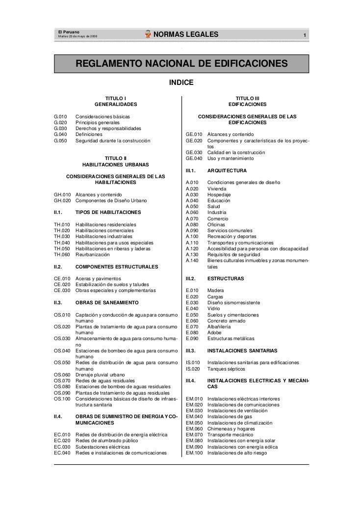 Reglamento nacional de edificaciones 1 for Oficina comercial definicion