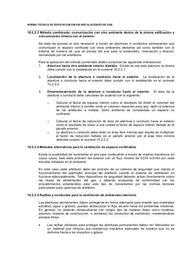 Reglamento nacional de edificaciones EM-040