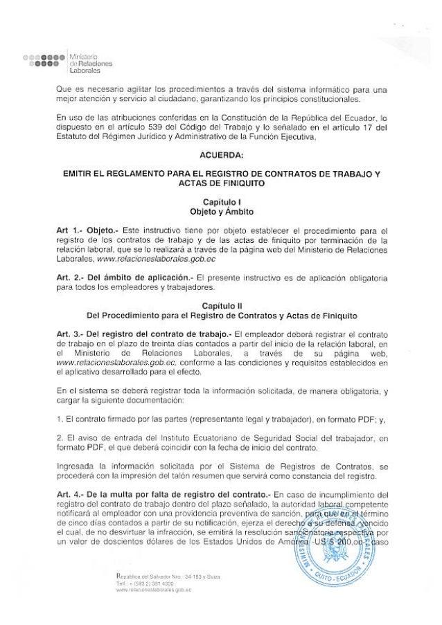 Formatos actas de finiquito en linea reglamento para el for Formato de contrato de trabajo