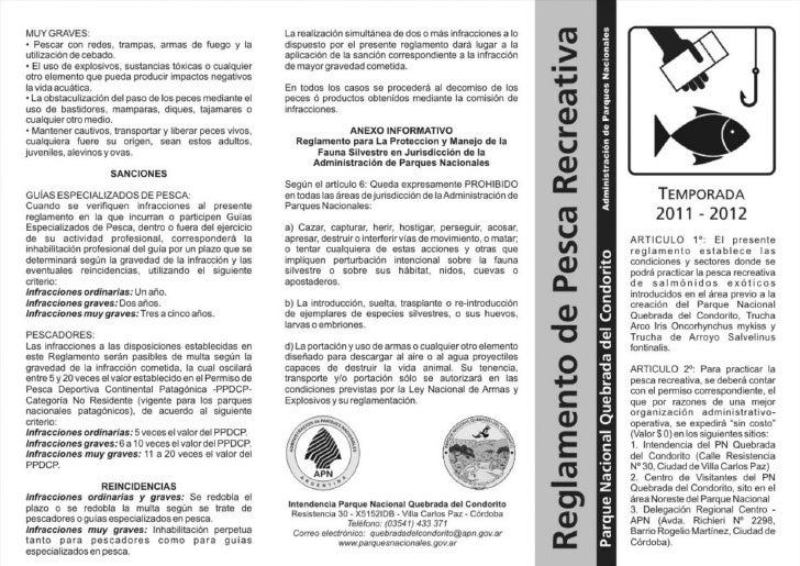 Reglamento pesca 2011 2012