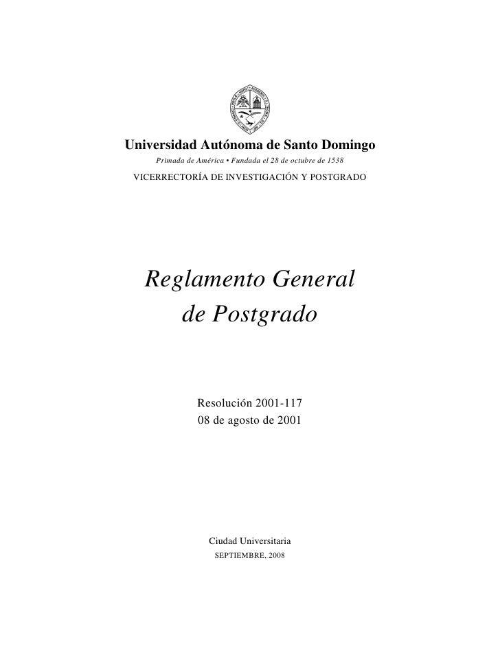 Universidad Autónoma de Santo Domingo      Primada de América • Fundada el 28 de octubre de 1538   VICERRECTORÍA DE INVEST...