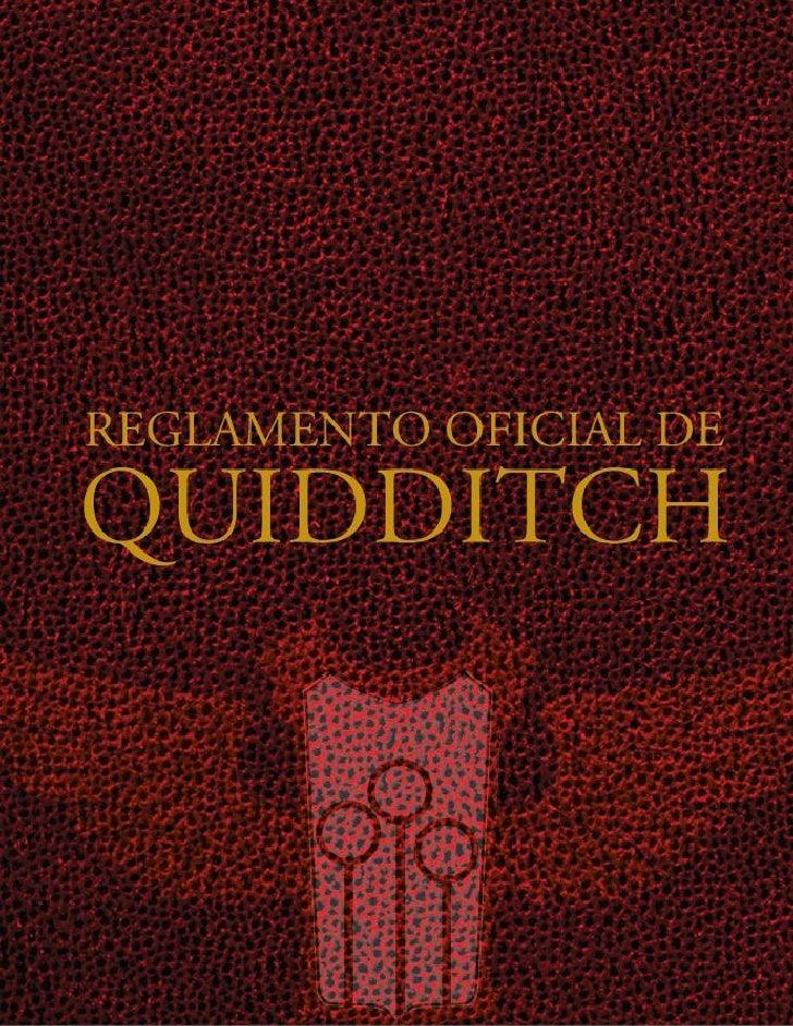 Reglamento Quidditch