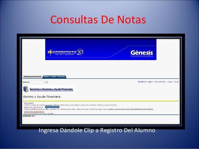 Consultas De NotasIngresa Dándole Clip a Registro Del Alumno
