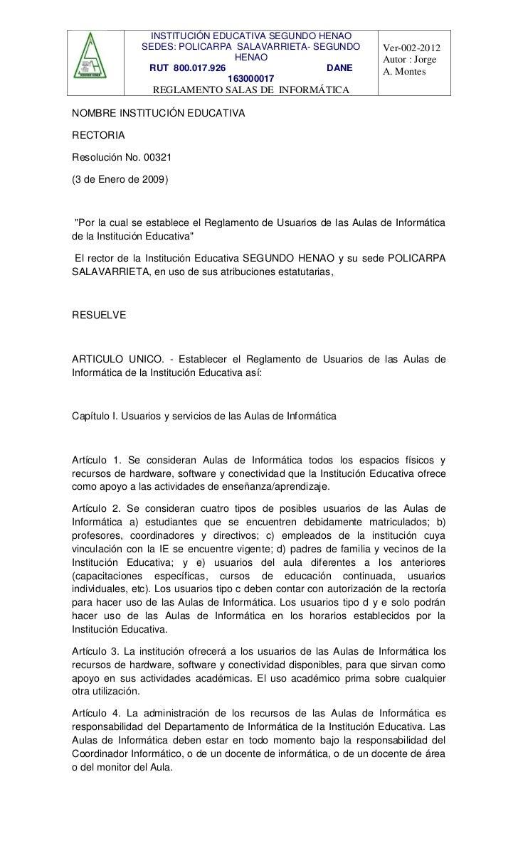INSTITUCIÓN EDUCATIVA SEGUNDO HENAO               SEDES: POLICARPA SALAVARRIETA- SEGUNDO                Ver-002-2012      ...
