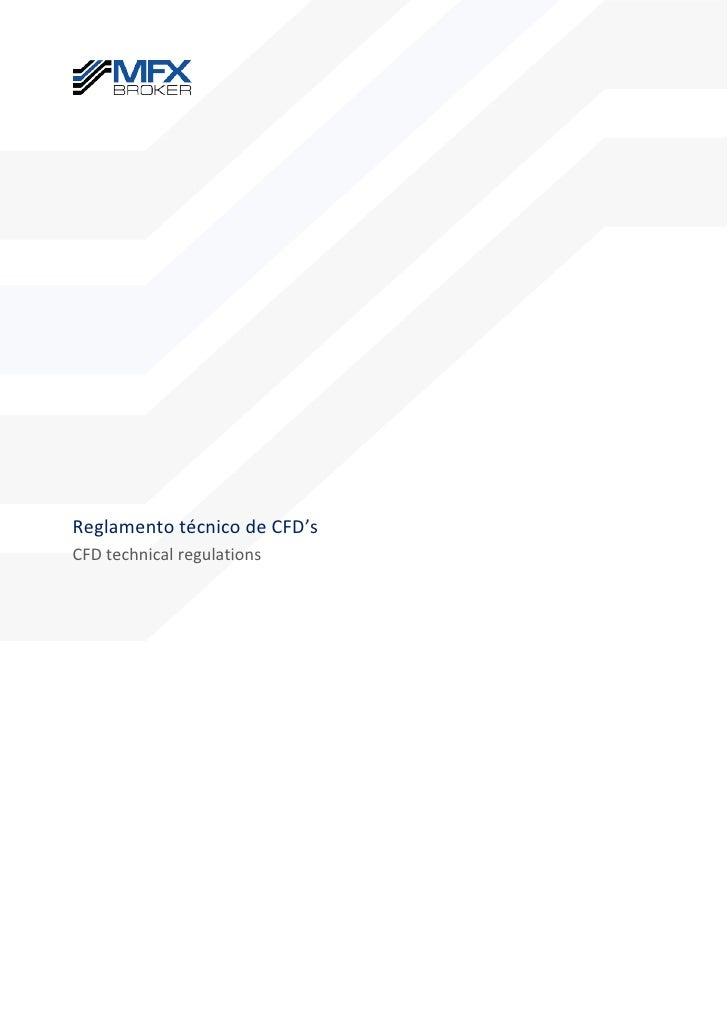 Reglamento técnico de CFD'sCFD technical regulations