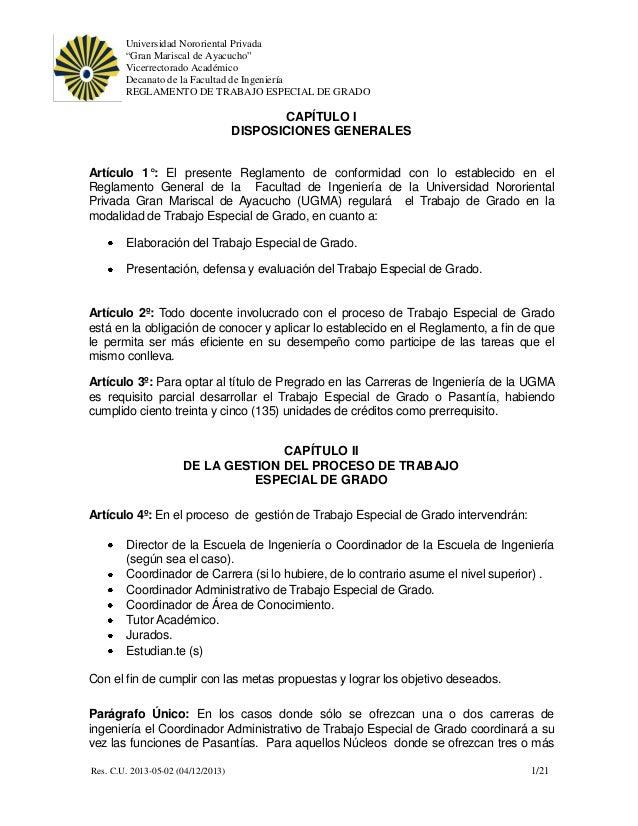"""Universidad Nororiental Privada """"Gran Mariscal de Ayacucho"""" Vicerrectorado Académico Decanato de la Facultad de Ingeniería..."""
