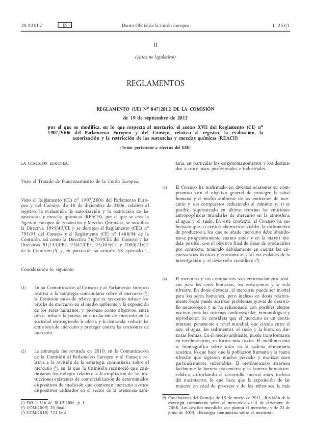 II (Actos no legislativos) REGLAMENTOS REGLAMENTO (UE) No 847/2012 DE LA COMISIÓN de 19 de septiembre de 2012 por el que s...