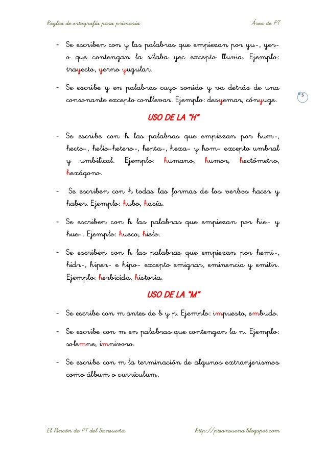 Reglas Ortogr U00e1ficas B U00e1sicas