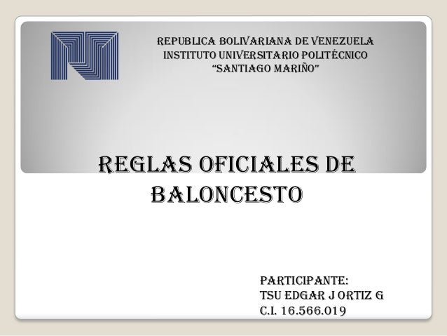 "REPUBLICA BOLIVARIANA DE VENEZUELA INSTITUTO UNIVERSITARIO POLITÉCNICO ""SANTIAGO MARIÑO"" PARTICIPANTE: TSU EDGAR J ORTIZ G..."